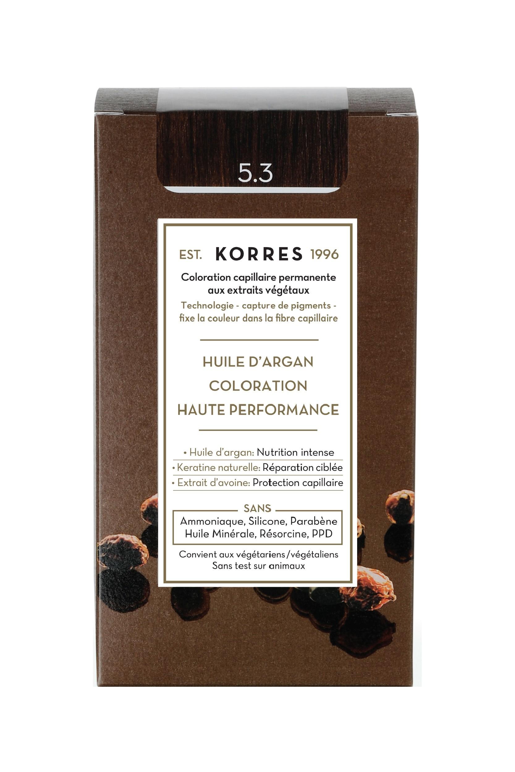 Coloration Permanente 5.3 châtain clair doré