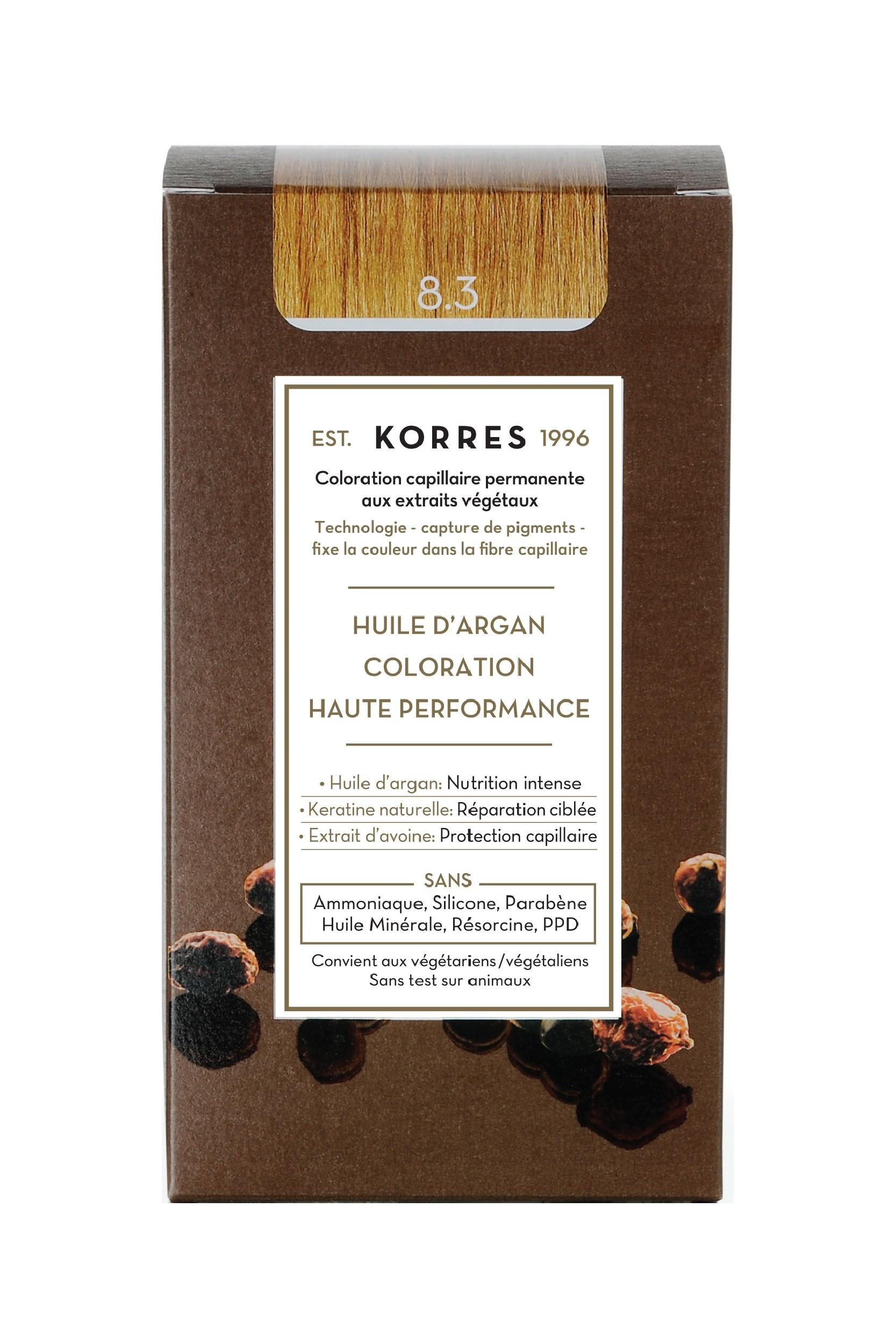Coloration Permanente 8.3 blond clair doré