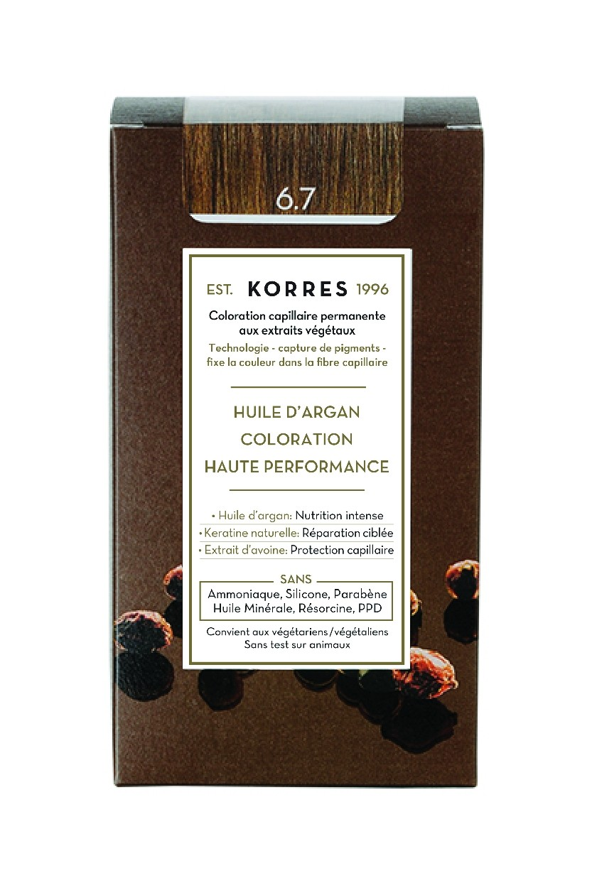 coloration permanente blond fonc marron 6 7. Black Bedroom Furniture Sets. Home Design Ideas