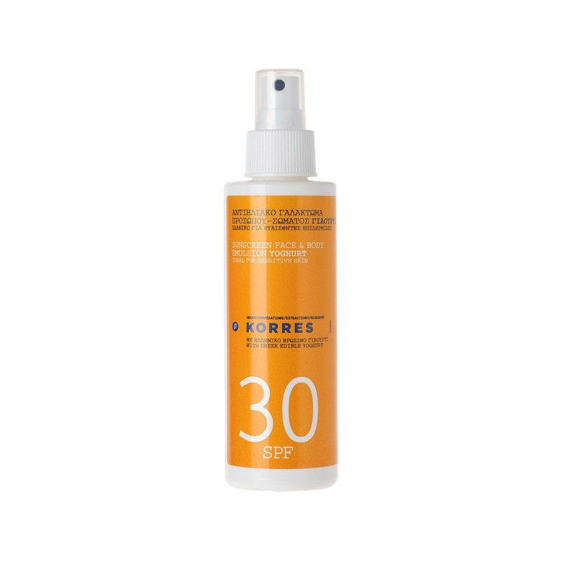 Emulsion solaire SPF30, visage & corps