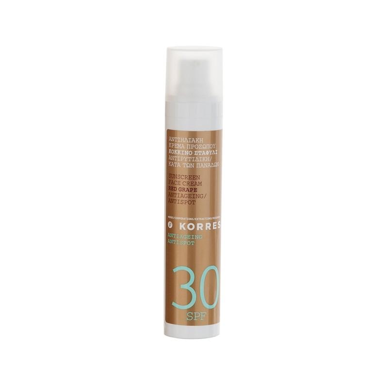Crème solaire visage SPF30 anti-taches brunes